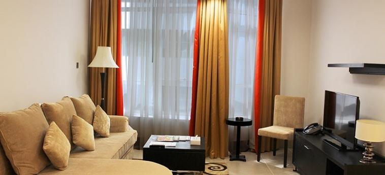 Al Diar Sawa Hotel Apartments: Salotto ABU DHABI