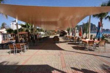 Azak Beach Hotel: Restaurant Exterior ALANYA