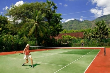 Hotel Matahari Beach Resort & Spa: Terrain de Tennis BALI