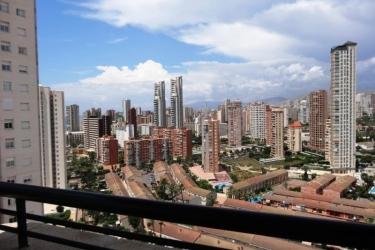 Hotel Apartamentos Luxmar: Terraza BENIDORM - COSTA BLANCA