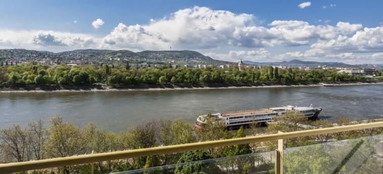 Danubius Hotel Helia: Aussicht BUDAPEST