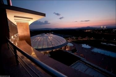 Hotel Aquaworld Resort Budapest: Aussicht BUDAPEST