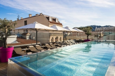 Five Seas Hotel Cannes: Piscine chauffée CANNES