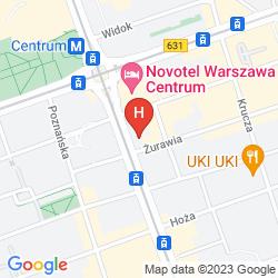 Plan NOVOTEL WARSZAWA CENTRUM