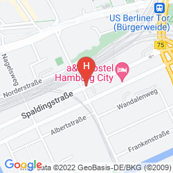 Plan SUPERBUDE HOTEL HOSTEL ST.GEORG