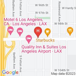 Plan CENTURY INN AT LAX