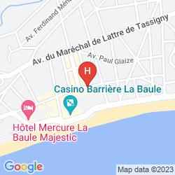 Plan BARRIERE LE ROYAL LA BAULE