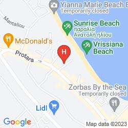 Plan VRISSIANA BOUTIQUE BEACH HOTEL