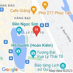 Plan AUTHENTIC HANOI BOUTIQUE HOTEL