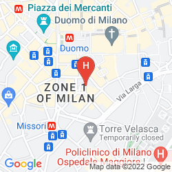 Plan GRAND HOTEL PLAZA MILANO