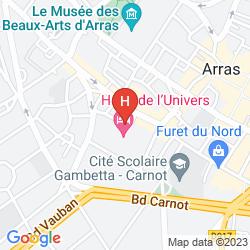 Plan HOTEL DE L'UNIVERS