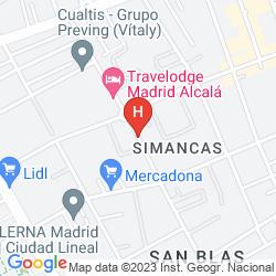 Plan TRAVELODGE MADRID ALCALA