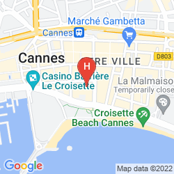 Plan HOTEL AMERICA CANNES