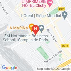 Plan APARTHOTEL ADAGIO ACCESS PARIS CLICHY