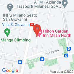 Plan HILTON GARDEN INN MILAN NORTH