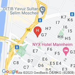 Plan BEST WESTERN HOTEL MANNHEIM CITY
