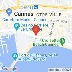 Plan BARRIERE LE MAJESTIC CANNES