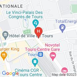 Plan LE GRAND HOTEL DE TOURS