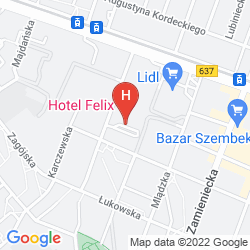 Plan BEST WESTERN HOTEL FELIX