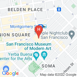 Plan PALACE HOTEL, A LUXURY COLLECTION HOTEL, SAN FRANCISCO