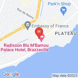 Plan RADISSON BLU M'BAMOU PALACE