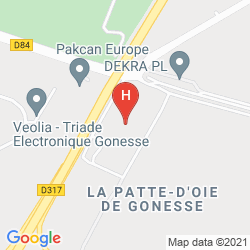 Plan EGG HOTEL PARIS GONESSE