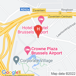 Plan CROWNE PLAZA BRUSSELS AIRPORT
