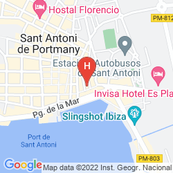 Plan THE RED HOTEL BY IBIZA FEELING