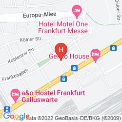 Plan FAIR HOTEL FRANKFURT