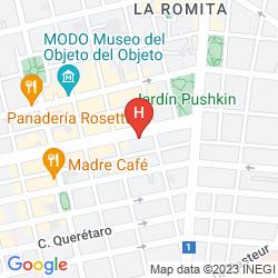 Plan FOUR POINTS BY SHERATON MEXICO CITY COLONIA ROMA