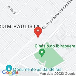 Plan MERCURE SAO PAULO GINASIO IBIRAPUERA