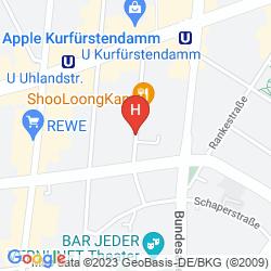 Plan HENRI HOTEL BERLIN KURFURSTENDAMM