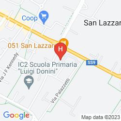Plan UNAWAY CONGRESS HOTEL BOLOGNA SAN LAZZARO