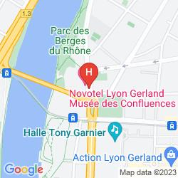 Plan NOVOTEL LYON GERLAND MUSÉE DES CONFLUENCES
