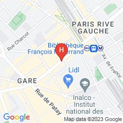Plan IBIS STYLES PARIS TOLBIAC BIBLIOTHEQUE