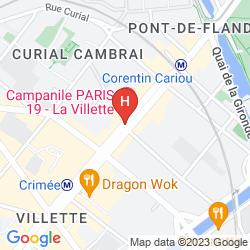 Plan CAMPANILE PARIS 19 - LA VILLETTE