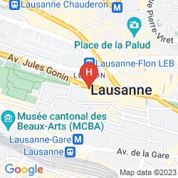 Plan LAUSANNE PALACE & SPA