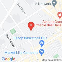 Plan BEST HOTEL LILLE