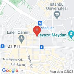 Plan SAMIR HOTEL ISTANBUL