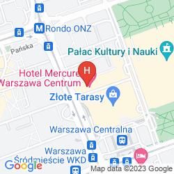 Plan MERCURE WARSZAWA CENTRUM