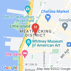 Plan THE STANDARD, HIGH LINE NYC