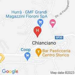 Plan HOTEL VILLA RICCI