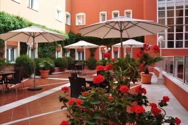 Hotel Alboran : Terrace CHICLANA DE LA FRONTERA