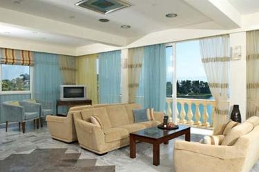 Hotel Pontikonissi: Area de Estar CORFÚ