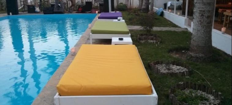 Hostel Laguna Park Cabarete: Außenschwimmbad DOMINIKANISCHE REPUBLIK