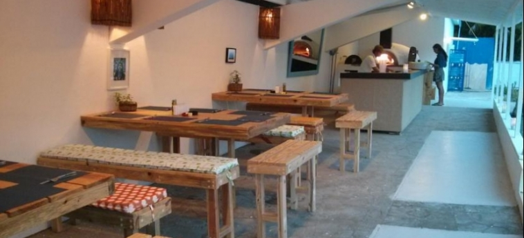 Hostel Laguna Park Cabarete: Restaurant DOMINIKANISCHE REPUBLIK