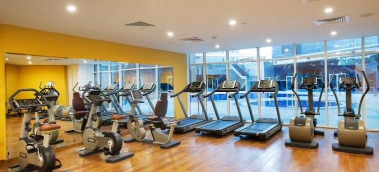 Ghaya Grand Hotel: Salle de Gym DUBAI