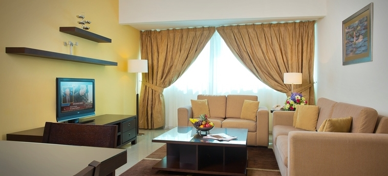 Time Crystal Hotel Apartments: Living Room DUBAI