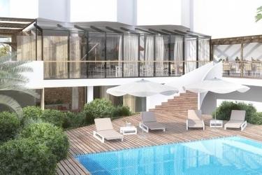 Hotel Apartamentos Castavi: Außenschwimmbad FORMENTERA - BALEARISCHEN INSELN