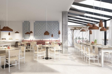 Hotel Apartamentos Castavi: Sala de Desayuno FORMENTERA - ISLAS BALEARES